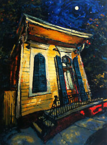 Michalopoulos MOON OVER MAZANT SERIGRAPH Signed Numbered. $1099.00