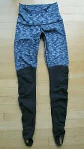 Lululemon Wunder Under Womens Size 4 Stirrup Leggings Pants Dramatic Static $44.99