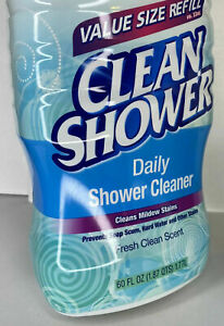 Clean Shower Daily Shower Cleaner Refill 60 oz Scrub Free Fresh Scent Lot Of 2 $41.99