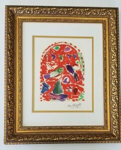 MARC CHAGALL ORIGINAL 1962 BEAUTIFUL SIGNED PRINT MATTED 11 X1 4 $145.00