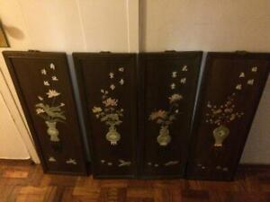 Chinese Wood Panels set of four $549.99