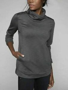 Athleta Stowe pullover Small NEW charcoal heather shirt top winter Training