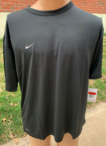 NIKE Team Pro Mens FIT DRY Short Sleeve Shirt Size XXL Black New With Tags $19.99