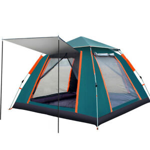 5 6 Person Family Camping Tent Instant Popup Foldable Waterproof Windproof