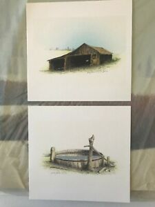 Two Russell Chatham original lithographs Old Barn and Old Stock Tank S N D $149.00