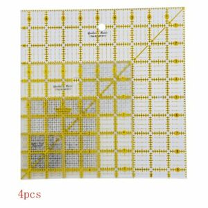 Acrylic Quilters Ruler 2.5 4.5 6.5 and 9.5 inch Square Rulers Set of 4 C $43.32