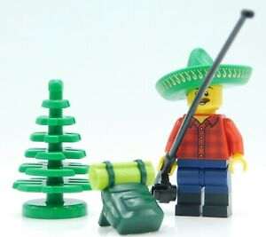 Lego Minifigure fishing and camping trip