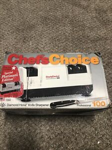 Chefs Choice Professional Model 100 3 Stage Diamond Hone Knife Sharpener