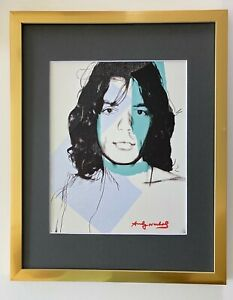 ANDY WARHOL ORIGINAL 1984 SIGNED MICK JAGGER MATTED TO BE FRAMED AT 11X14 $175.00