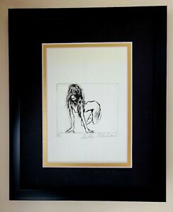 LEROY NEIMAN ORIGINAL ETCHING HAND SIGNED IN PENCIL NUMBERED 7 50 FRAMED $395.00