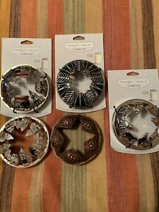 5 Yankee Candle Holiday Illuma Lid Candle Toppers $50.00