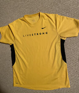 Nike Livestrong Yellow Athletic Jersey Shirt Size XL Nike Fit $20.00