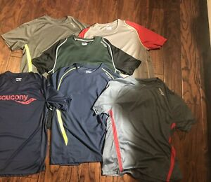 6 Saucony Mens Running Shirts Large amp; Red Large 1 4 Zip up Pullover $100 $100.00