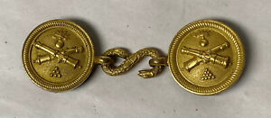 ANTIQUE MILITARY BRASS BELT BUCKLE CANNON SNAKE CLASP $195.00