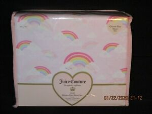 Juicy Couture Rainbow Clouds 4PC Queen Sheet Set *New* $43.99
