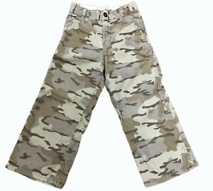 OSH KOSH Boys Camo Cord Carpenter Pants Sz 6 Camouflage Adjustable Waist EUC $17.99