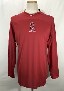 Nike Pro MLB Los Angeles Anaheim Angels Long Sleeve Baseball Shirt Mens Size XL $39.88