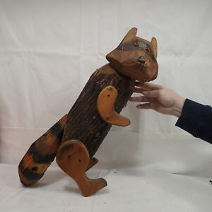 Carved Raccoon Carving Cabin Decor Rustic Log Wood Sculptures $15.00