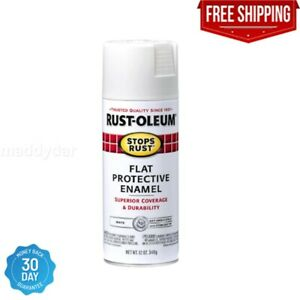 HOT Rust Oleum White PROTECTIVE ENAMEL Spray Paint For Metal Wood Surface $6.69