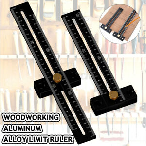 180 280mm Hole Positioning Metric Line Measuring Inch T Ruler Gauge Scribe $18.40