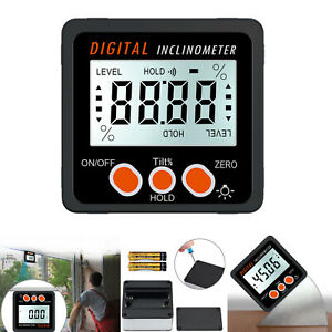 Digital Inclinometer Level Box Protractor Angle Finder Level Gauge LCD Magnet $22.00