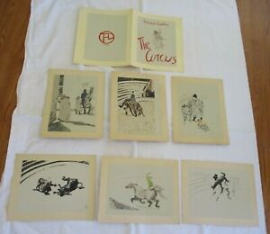 Vtg TOULOUSE LAUTREC Lithograph Print THE CIRCUS 5 PICTURE Set $149.99