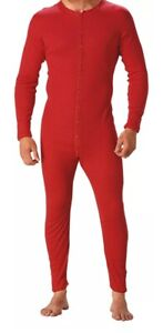CARHARTT UNION SUIT Midweight Cotton RED Work Warm Outdoors L XL 2XL 3XL