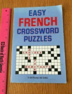 Easy French Crossword Puzzles Language French English and French Edition $4.99