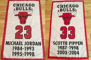 3x5 Chicago Bulls The Last Dance banner set Jordan amp; Pippen retirement banners