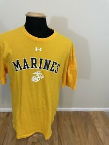 Men's Red Under Armour USMC Marines Loose Heat Gear T Shirt Size XL $12.99