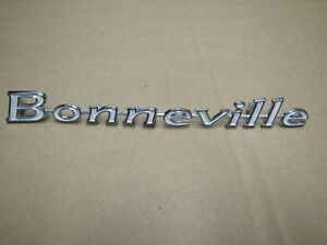 1967 BONNEVILLE REAR TAIL PANEL EMBLEM
