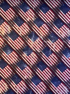 "American Flag Cotton Fabric On The Diagonal Sold By The 1 2 Yard 18""x 44"""