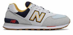 New Balance Mens 574 Shoes Grey with Navy $55.79