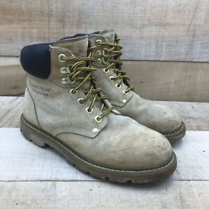 Carolina Work Tough Mens Safety Boots Brown Leather Lace Up Oil Resistant 9 M