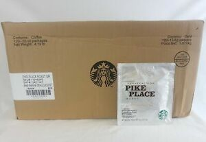 Starbucks Pike Place Roast Coffee Packs Hotel Style Case of 120 BBD 8 2020