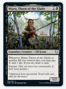 4x Miara Thorn of the Glade NM Commander Legendary Elf Scout Partner Great Card $1.95