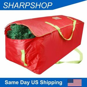 Bag for 9Ft Christmas Tree Storage Xmas Decor Container Double Zipper Heavy Duty $14.86