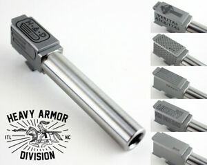 G19 Barrel Match Grade 9MM Stainless Custom Engraved Fits Glock amp; P80 HAD