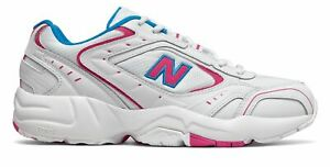 New Balance Mens 452 Shoes White with Pink amp; Blue $37.20