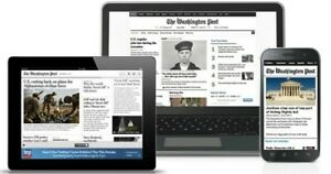 Washington Post 1 Year Digital Subscription for PC Android and Iphone $17.99