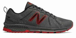 New Balance Mens 590v4 Trail Shoes Grey with Red $32.49
