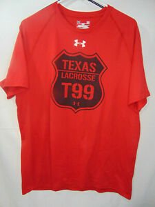 Mens Large Red Under Armour Shirt Texas LACROSSE $6.99