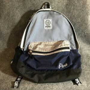 Victoria Secret Pink Backpack Navy Full Size Laptop $23.50