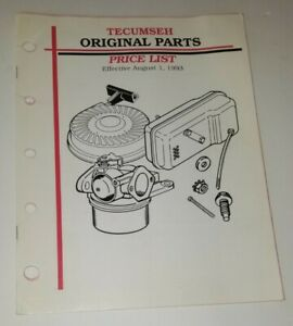 Tecumseh Original Parts 1993 Price List