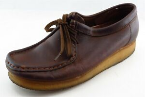 Clarks Oxfords Brown Leather Women Shoes Size 7.5 Medium B M $14.99