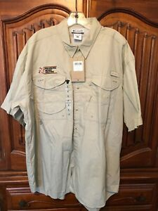Columbia Fishing Shirt Sleeved Button Down Vented Mens Size XL X Large