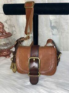FOSSIL Maddox Browns Leather Small Crossbody Bag vintage style BRAND NEW