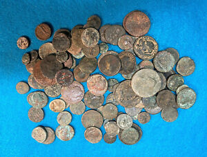Lot of 10 genuine ancient Greek and Roman Provincial Bronzes from old group $19.50