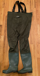 Rospick Full Chest w Boots Waterproof PVC Fishing Waders Size 9 RFW100B NEW