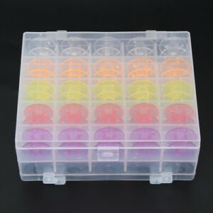 Color Bobbin Grid Assorted Bobbin Sewing Spool 50Pcs For Home Sewing Machin Home $14.09